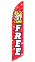 """Buy One Get One Free"" Feather Flag (Patriotic Red)"