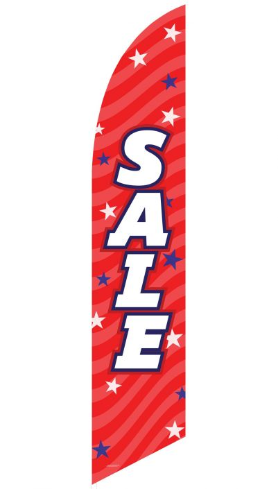 """Sale"" Feather Flag (Patriotic Red)"