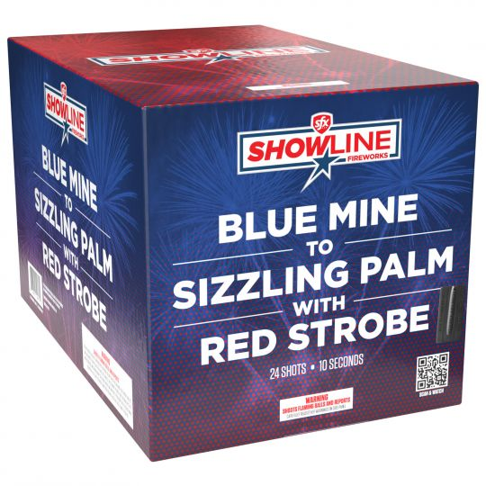 Blue Mine to Sizzling Palm with Red Strobe